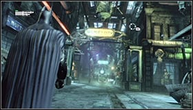 24 - Follow assassin using tracer device to locate Ras al Ghul | Main story - Main story - Batman: Arkham City Game Guide