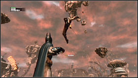 Constantly keep moving, regularly using Electrical Charge to drain the boss life bar #1 - Defeat Ras al Ghul | Main story - Main story - Batman: Arkham City Game Guide