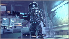 Head to the main room of the building #1 and approach Mister Freeze to initiate a conversation - Return to the GCPD to deliver the blood of Ras al Ghul to Mister Freeze (part 2) | Main story - Main story - Batman: Arkham City Game Guide