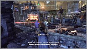 The two other sniper can be found on top of the roof, north-west of the crash site #1 - Rescue Vicki Vale from chopper crash site | Main story - Main story - Batman: Arkham City Game Guide