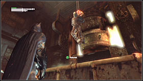 Carefully approach the enemies standing south of here - Infiltrate the Steel Mill (part 2) | Main story - Main story - Batman: Arkham City Game Guide