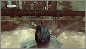 Doing the above will let you reach a new platform surrounded by water #1 - Infiltrate the Steel Mill (part 2) | Main story - Main story - Batman: Arkham City Game Guide