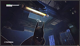 You have to be very careful here, as theres a sniper inside the adjacent room #1 - Locate Joker in the Steel Mill | Main story - Main story - Batman: Arkham City Game Guide