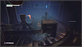 Carefully move east along the assembly line #1 and afterwards turn north - Locate Joker in the Steel Mill | Main story - Main story - Batman: Arkham City Game Guide