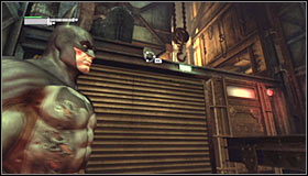 Id suggest going down from the line after getting directly behind the sniper #1 - Locate Joker in the Steel Mill | Main story - Main story - Batman: Arkham City Game Guide