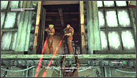First off you should deal with the two snipers on the upper level, inside the previously visited Jokers office - Locate Joker in the Steel Mill | Main story - Main story - Batman: Arkham City Game Guide