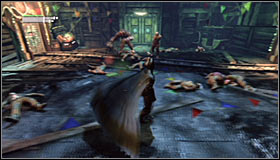 Continue fighting #1, while constantly moving and keeping Batmans health at an reasonable level - Defeat Joker | Main story - Main story - Batman: Arkham City Game Guide