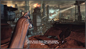 Head towards the exit from the partially destroyed Sionis Steel Mill #1 - Scan the TYGER helicopter to locate the Master Control Program | Main story - Main story - Batman: Arkham City Game Guide