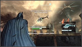 The primary objective of this mission is scanning helicopter and each time you have to wait for it to get nearby Batman #1 - Scan the TYGER helicopter to locate the Master Control Program | Main story - Main story - Batman: Arkham City Game Guide