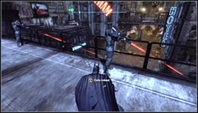 It would be good to attack those snipers by surprise - Gain access to Wonder Tower | Main story - Main story - Batman: Arkham City Game Guide