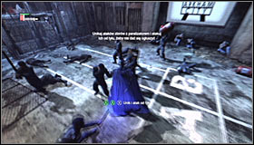 OF course you cant ignore other enemies in this room, leading out successful counterattack #1 - Gain access to Wonder Tower | Main story - Main story - Batman: Arkham City Game Guide