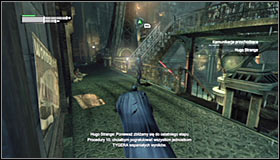 Move in onto the first sniper mentioned above and silently take him down #1 - Climb the observation deck to stop Protocol 10 | Main story - Main story - Batman: Arkham City Game Guide