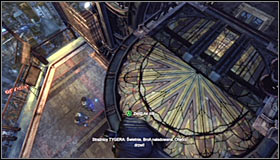 You have to quickly get out of the elevator, as the enemies on this level are expecting Batmans arrival and plan on opening fire when only the elevator open - Climb the observation deck to stop Protocol 10 | Main story - Main story - Batman: Arkham City Game Guide