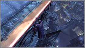 Now you will be able to use the new passage which will take you north - Climb the observation deck to stop Protocol 10 | Main story - Main story - Batman: Arkham City Game Guide