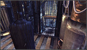 Head towards the bigger platform #1, therefore ending the first part of the climb - Climb the observation deck to stop Protocol 10 | Main story - Main story - Batman: Arkham City Game Guide