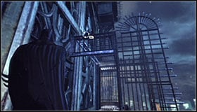 Head right and eventually you will reach a spot #1 where you will have to start climbing up again - Climb the observation deck to stop Protocol 10 | Main story - Main story - Batman: Arkham City Game Guide