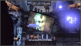 A long cutscene with Hugo Strange and Ras al Ghul #1 will start and end with a bang - Climb the observation deck to stop Protocol 10 | Main story - Main story - Batman: Arkham City Game Guide