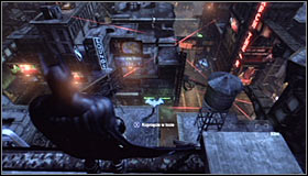In order to find Jokers latest hideout, you will once again use the tracking device - Follow tracker to save Talia from Joker | Main story - Main story - Batman: Arkham City Game Guide
