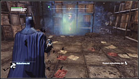 Approach the container and press the right trigger to spray Explosive Gel onto it #1 - Fragile Alliance - p. 1 | Side missions - Side missions - Batman: Arkham City Game Guide