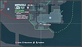 The third container is inside the Sionis Steel Mill building in the Industrial District of Arkham City - Fragile Alliance - p. 1 | Side missions - Side missions - Batman: Arkham City Game Guide