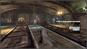After reaching the subway terminal turn left and use the stairs #1 - Fragile Alliance - p. 1 - Side missions - Batman: Arkham City - Game Guide and Walkthrough
