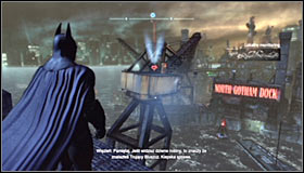 Open the map and choose the point marked as Advanced AR Training 3 #1 - AR Training - Side missions - Batman: Arkham City - Game Guide and Walkthrough