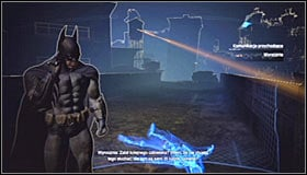 As you have probably guessed, you need to turn on the Evidence Scanner - Shot in the Dark - p. 1 | Side missions - Side missions - Batman: Arkham City Game Guide