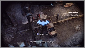 The body is in the western part of the park, nearby the wall separating Arkham City from the rest of the world #1 - Shot in the Dark - p. 1 | Side missions - Side missions - Batman: Arkham City Game Guide