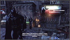 Follow the games suggestion and turn on the Evidence Scanner - Shot in the Dark - p. 1 | Side missions - Side missions - Batman: Arkham City Game Guide
