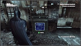 Be careful, as the top floor is likely to be patrolled by two guards equipped with firearms - Shot in the Dark - p. 2 | Side missions - Side missions - Batman: Arkham City Game Guide