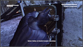 Just like with the second substation, you have to take into account that the area is patrolled by armed enemies #1 - Shot in the Dark - p. 2 | Side missions - Side missions - Batman: Arkham City Game Guide