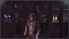 Stop directly below Deadshot #1 and press Y to knock out and arrest him #2 - Shot in the Dark - p. 2 | Side missions - Side missions - Batman: Arkham City Game Guide