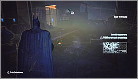 Keep the Detective Mode, as now you will have to follow the bleach traces - Identity Theft | Side missions - Side missions - Batman: Arkham City Game Guide