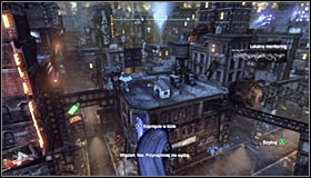 You will be able to approach this side mission after saving Vicki Vale, that is after completing the Rescue Vicki Vale from chopper crash site - The Tea Party | Side missions - Side missions - Batman: Arkham City Game Guide