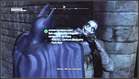 After getting inside - in accordance with Riddlers warning - you will be attacked by a group of thugs - Enigma Conundrum (riddles 1-9) | Side missions - Side missions - Batman: Arkham City Game Guide