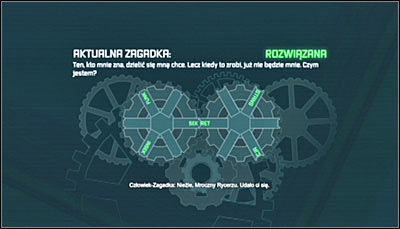 The next, 4th riddle, is related to the Enigma Machine that the officer youve saved just a moment ago has received from the Riddler - Enigma Conundrum (riddles 1-9) | Side missions - Side missions - Batman: Arkham City Game Guide