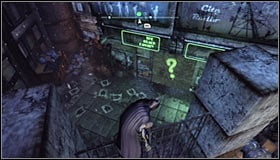 The next hostage is held inside a special room and saving him is the 5th riddle - Enigma Conundrum (riddles 1-9) - Side missions - Batman: Arkham City - Game Guide and Walkthrough