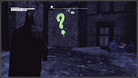 Note that a new point has appeared on the Arkham City map #1 - Enigma Conundrum (riddles 1-9) | Side missions - Side missions - Batman: Arkham City Game Guide