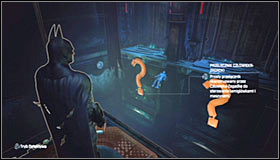 Luckily you dont have to keep a eye on the movements of the domes, as its enough to use the Detective Mode #1 to see where the hostage is being taken - Enigma Conundrum (riddles 1-9) | Side missions - Side missions - Batman: Arkham City Game Guide