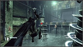 Contrary to what it might seem like, you dont need to use the Freeze Blast here - Enigma Conundrum (riddles 10-15) | Side missions - Side missions - Batman: Arkham City Game Guide