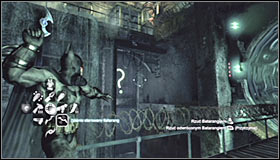 Note that therefore you have blocked the water flow in the right part of the waterfall, unveiling a question mark #1 - Enigma Conundrum (riddles 10-15) | Side missions - Side missions - Batman: Arkham City Game Guide