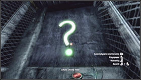 Hitting the left question mark #1 will be a bit harder, as its behind a grate - Enigma Conundrum (riddles 10-15) | Side missions - Side missions - Batman: Arkham City Game Guide