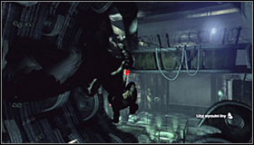 Right after shooting the line and starting the ride slow down (left trigger), as soon you will have to change direction - Enigma Conundrum (riddles 10-15) | Side missions - Side missions - Batman: Arkham City Game Guide