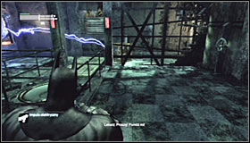Prepare the Electrical Charge, as you will be using it to solve this puzzle - Enigma Conundrum (riddles 10-15) | Side missions - Side missions - Batman: Arkham City Game Guide