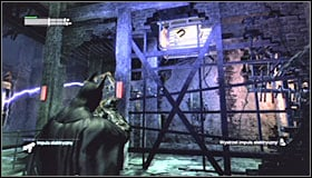 The next step needs to be done fast, before the previously activated magnet ceases to work - Enigma Conundrum (riddles 10-15) | Side missions - Side missions - Batman: Arkham City Game Guide