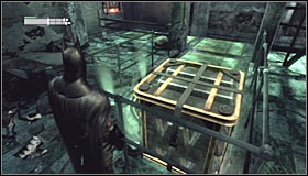 In the end, aim at the so far unused middle magnet #1 - Enigma Conundrum (riddles 10-15) - Side missions - Batman: Arkham City - Game Guide and Walkthrough