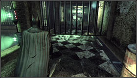 Go to the next room and note the woman imprisoned on the platform #1 - Enigma Conundrum (riddles 16-17) | Side missions - Side missions - Batman: Arkham City Game Guide