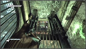 As you have probably guessed, you need to gain momentum and slide (right trigger) underneath the partially opened grate #1 - Enigma Conundrum (riddles 16-17) | Side missions - Side missions - Batman: Arkham City Game Guide