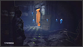 Land and look for a door in the north which will lead you to The Riddlers hideout #1 - Enigma Conundrum (riddles 16-17) | Side missions - Side missions - Batman: Arkham City Game Guide