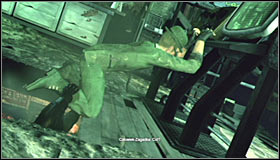 Head forward until you find yourself directly below the room occupied by the Riddler - Enigma Conundrum (riddles 16-17) | Side missions - Side missions - Batman: Arkham City Game Guide